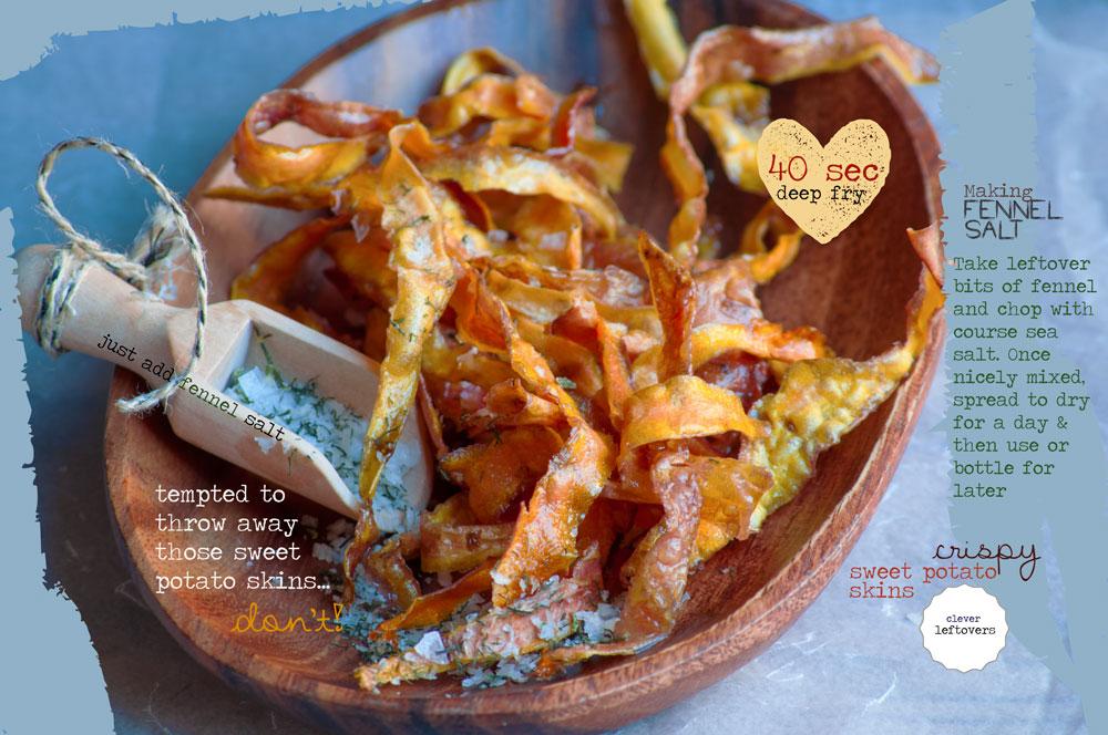 Crunchy Sweet Potato Skins with Fennel Salt