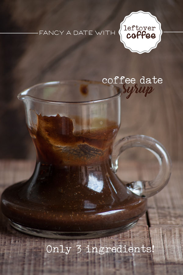 A date with leftover coffee